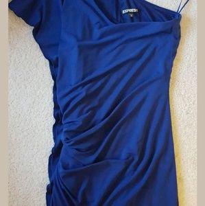 One shoulder Navy blue Express Dress NWOT